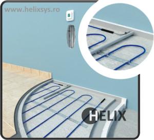 Helix incalzire in pardoseala cu acumulare